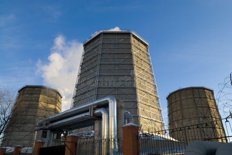 Download Centrale elettrica immagine stock. Immagine di clima, reattore - 3882321