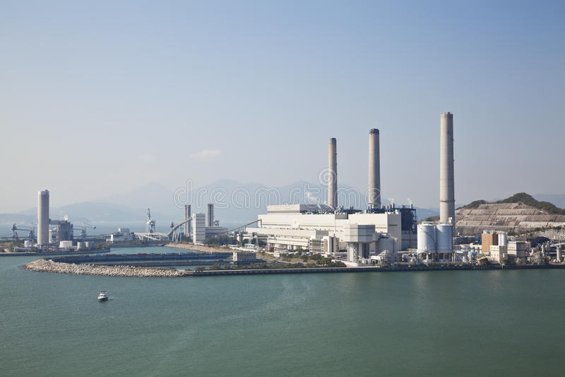Centrale elettrica a carbone fotografie stock