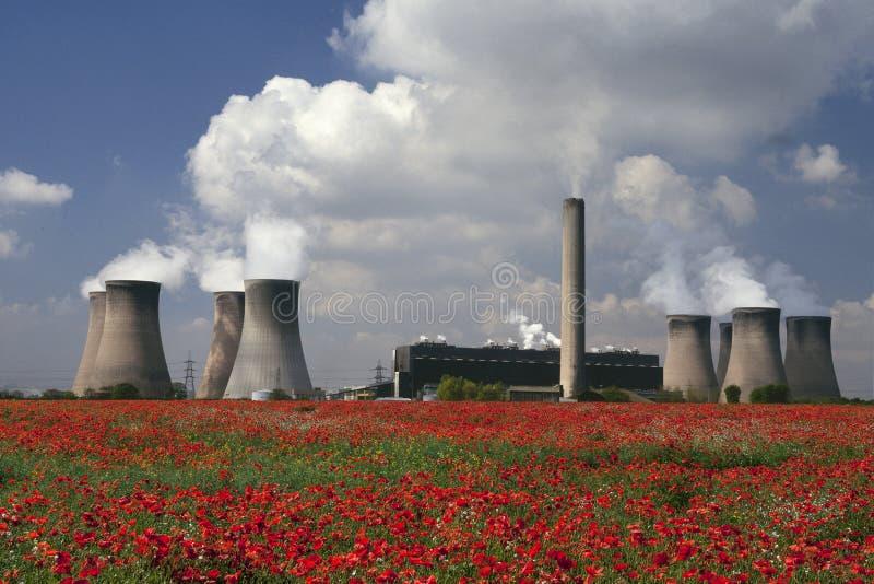 Centrale elettrica - Cheshire - Inghilterra fotografie stock libere da diritti