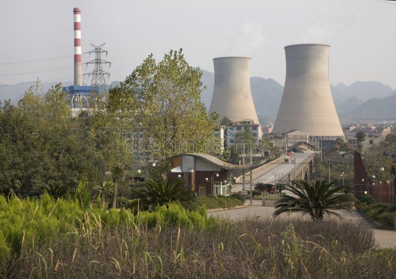 Centrale elettrica cinese di elettricità fotografia stock