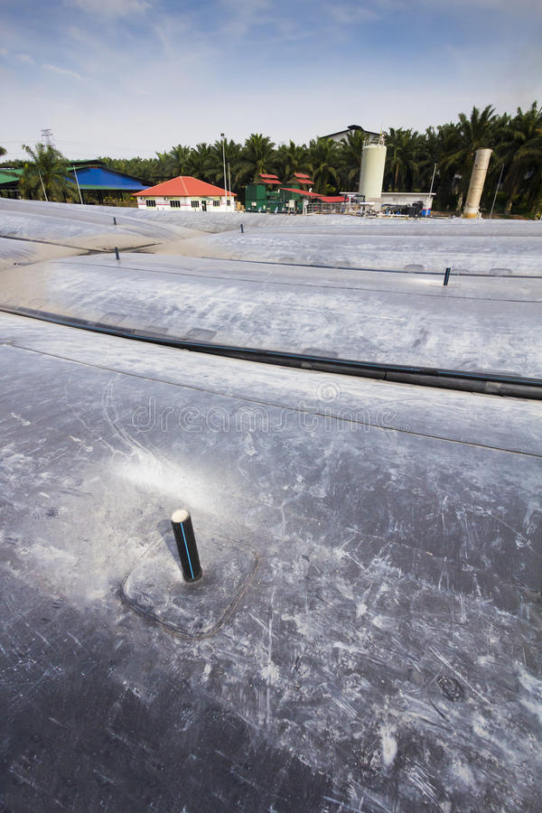 Centrale elettrica del biogas della palma da olio - serie 2 fotografie stock