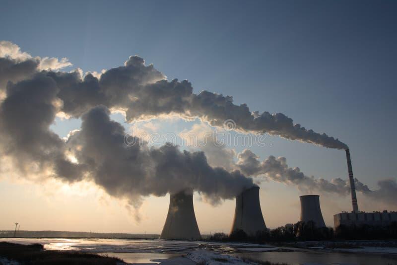 Centrale elettrica del carbone immagini stock libere da diritti