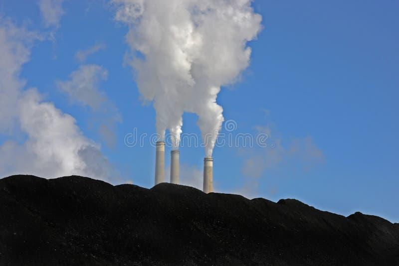Centrale elettrica del carbone 2 fotografia stock