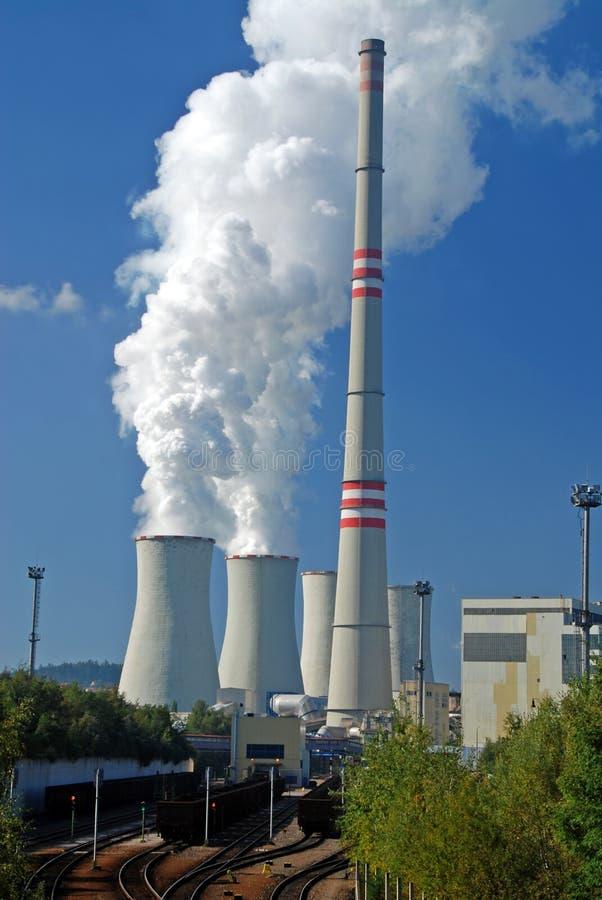 Centrale elettrica del carbone immagine stock libera da diritti