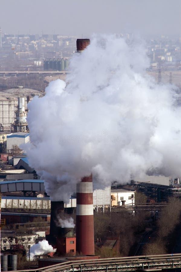 Centrale elettrica del carbone immagine stock