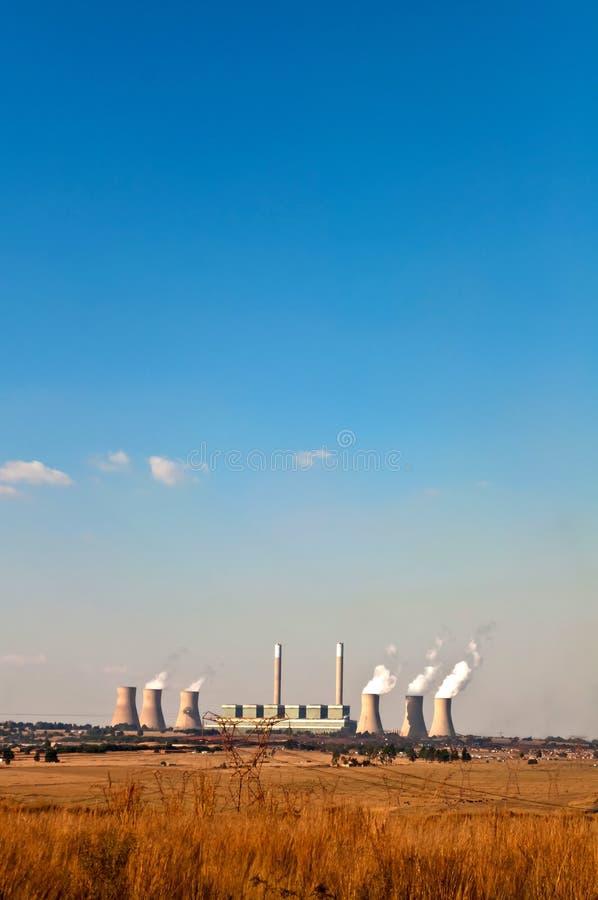 Centrale elettrica del Carbone-fireed immagine stock