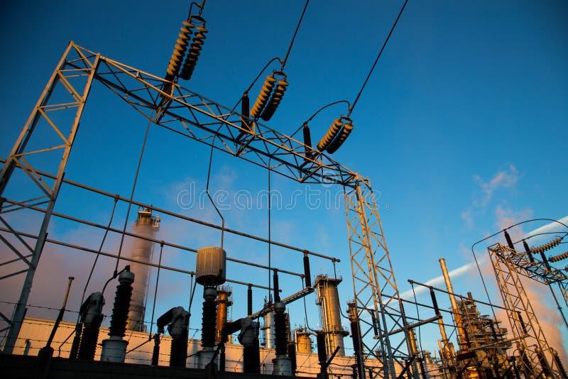 Centrale elettrica di energia fotografia stock libera da diritti