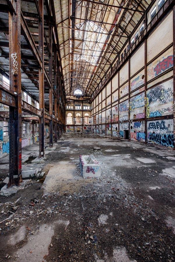 Centrale elettrica di Glenwood - Yonkers, New York fotografia stock libera da diritti