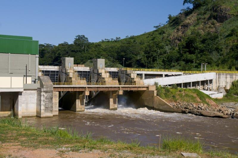 Centrale elettrica di idroelettricità fotografia stock