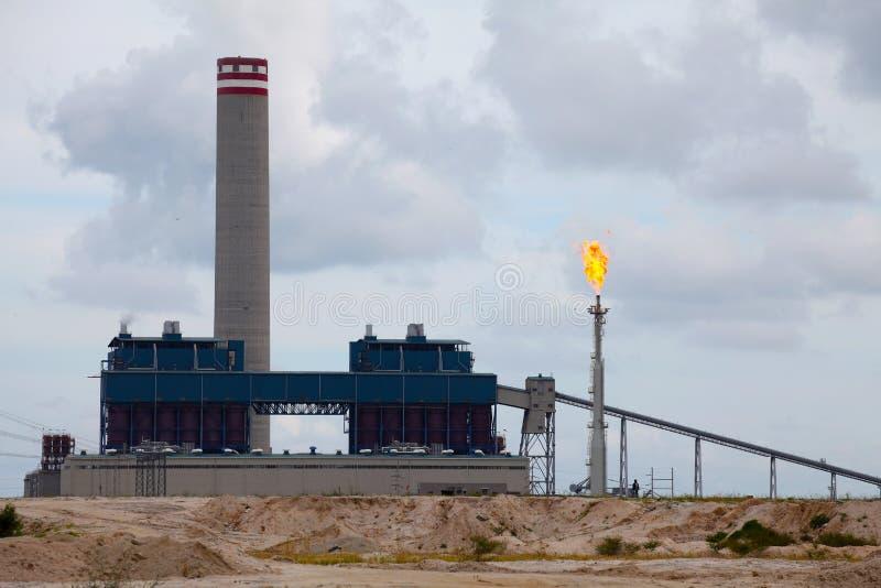Centrale elettrica infornata carbone fotografie stock