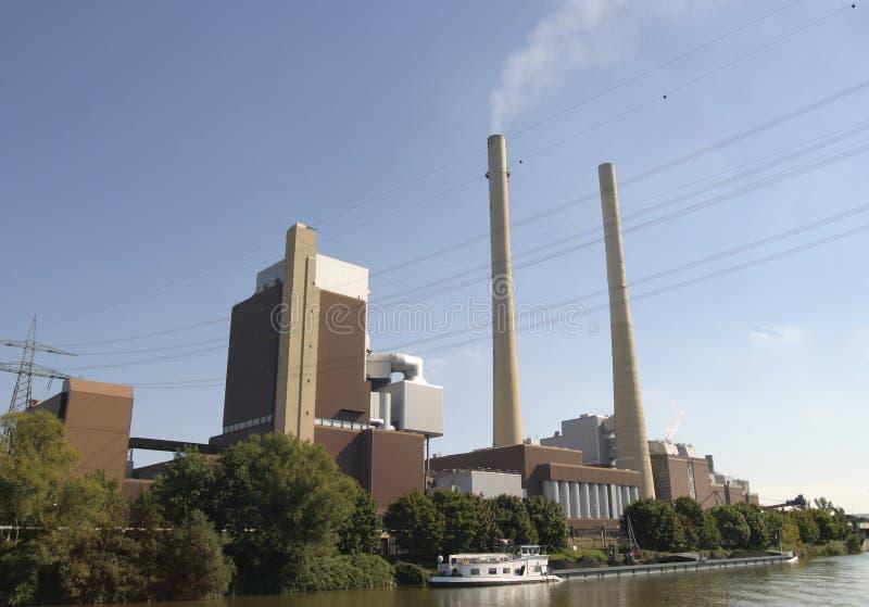 centrale elettrica infornata carbone immagine stock libera da diritti