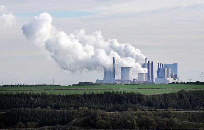 Centrale elettrica infornata carbone fotografia stock libera da diritti