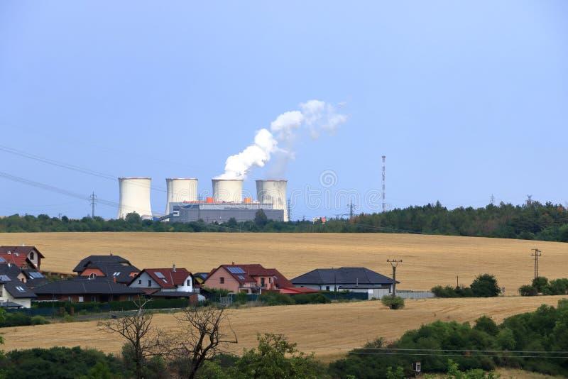 Centrale elettrica infornata carbone vicino a Chomutov, repubblica Ceca immagini stock libere da diritti