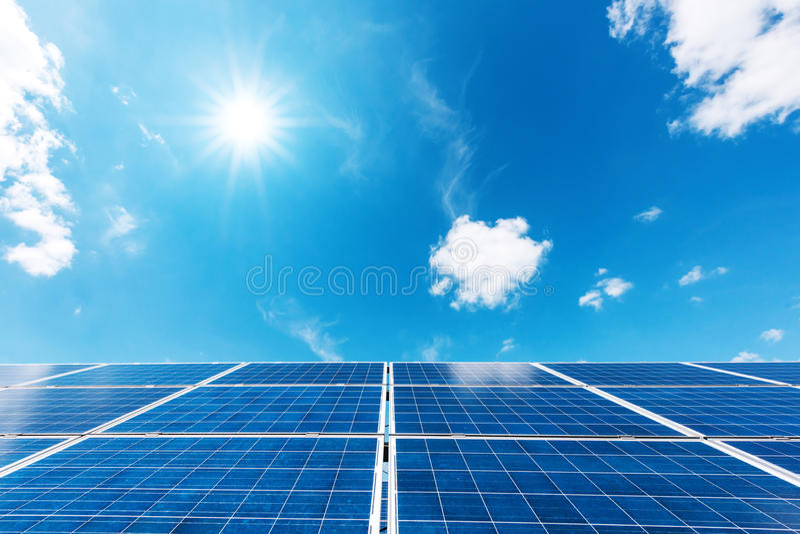 Centrale elettrica solare immagini stock libere da diritti