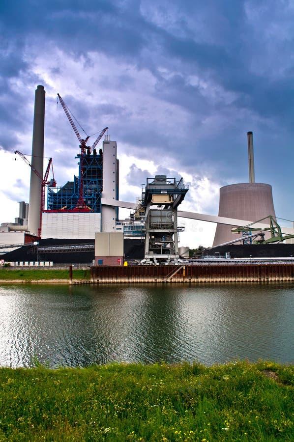 Centrale elettrica tedesca fotografia stock libera da diritti
