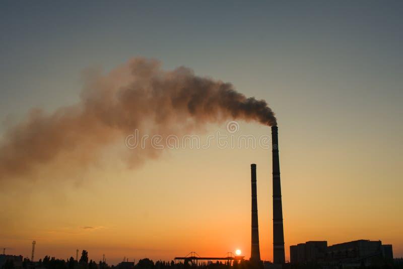 Centrale elettrica termica dell'Ucraina Uno del più potente nel Regno Unito immagine stock libera da diritti