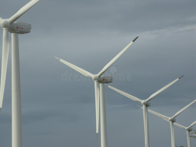 Centrale eolica, stato Venezuela del falco fotografie stock libere da diritti