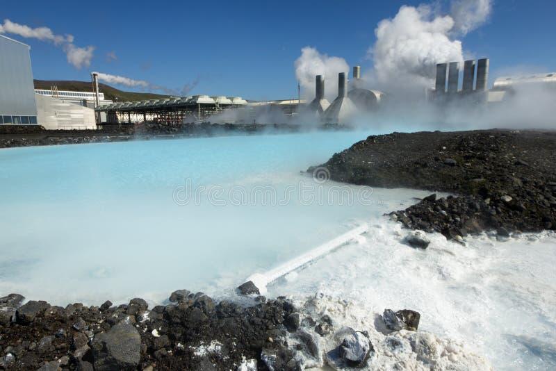 Centrale géothermique photographie stock libre de droits