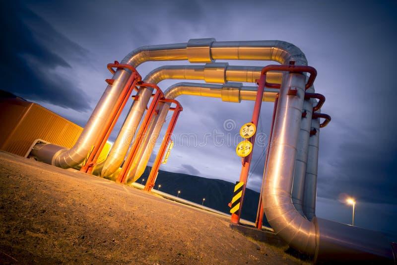 Centrale géothermique photos stock