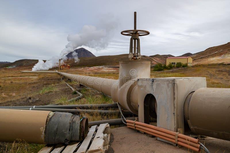 Centrale géothermique sur l'Islande photographie stock