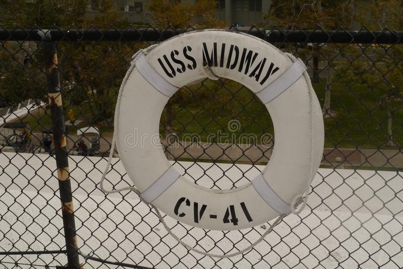Centrale het Levensspaarder van USS stock afbeelding