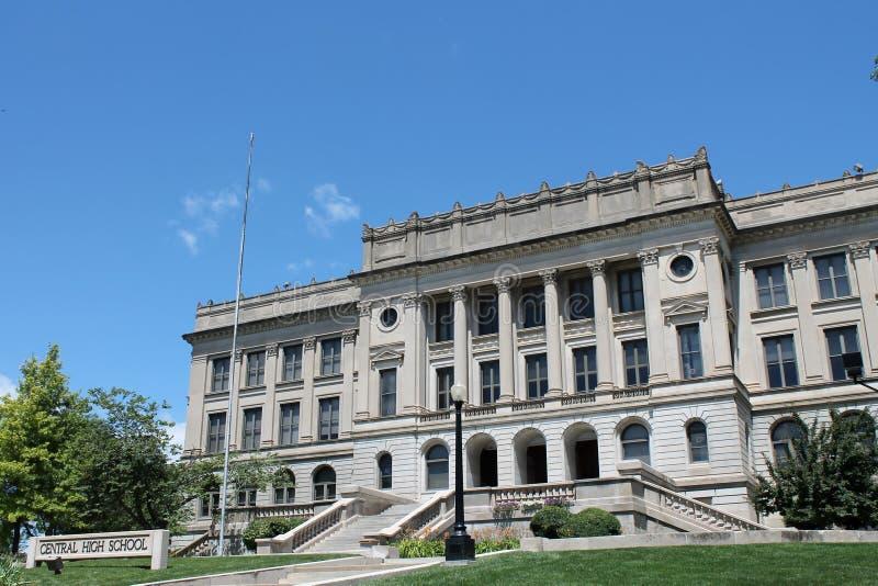Centrale Hoge school-Des Moines Iowa royalty-vrije stock afbeeldingen