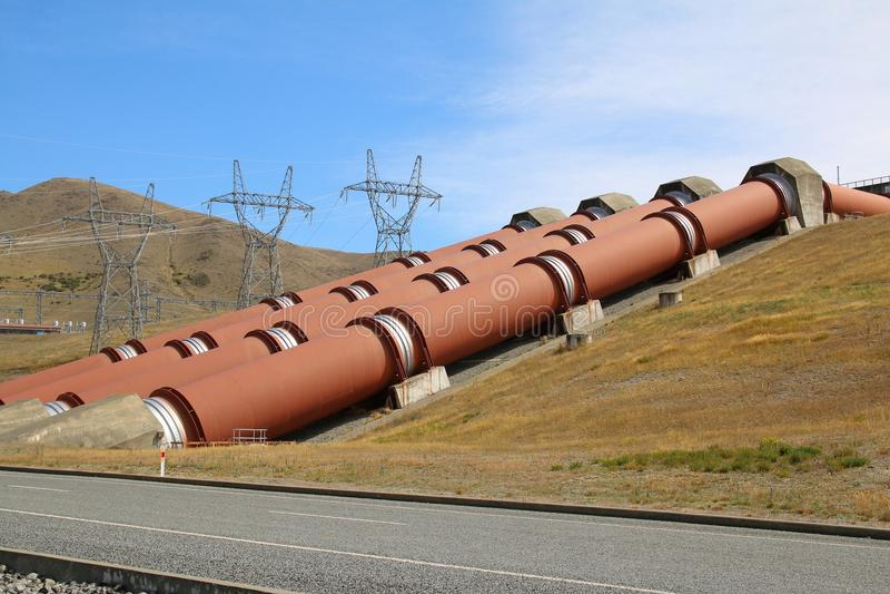 Centrale hydraulique près de Twizel Nouvelle-Zélande photo libre de droits
