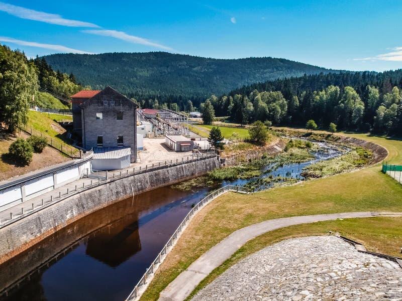 Centrale hydroélectrique - Lipno, République Tchèque image stock