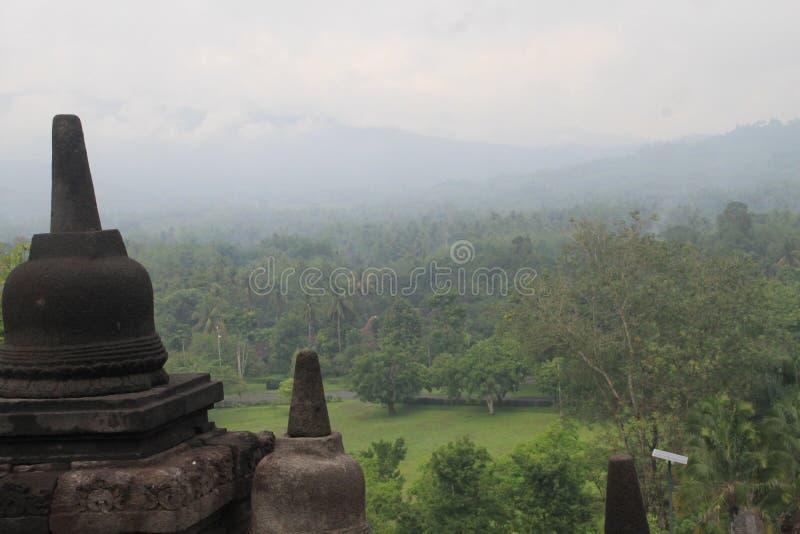Centrale Java di Yogyakarta del tempio di Borobudur fotografia stock libera da diritti