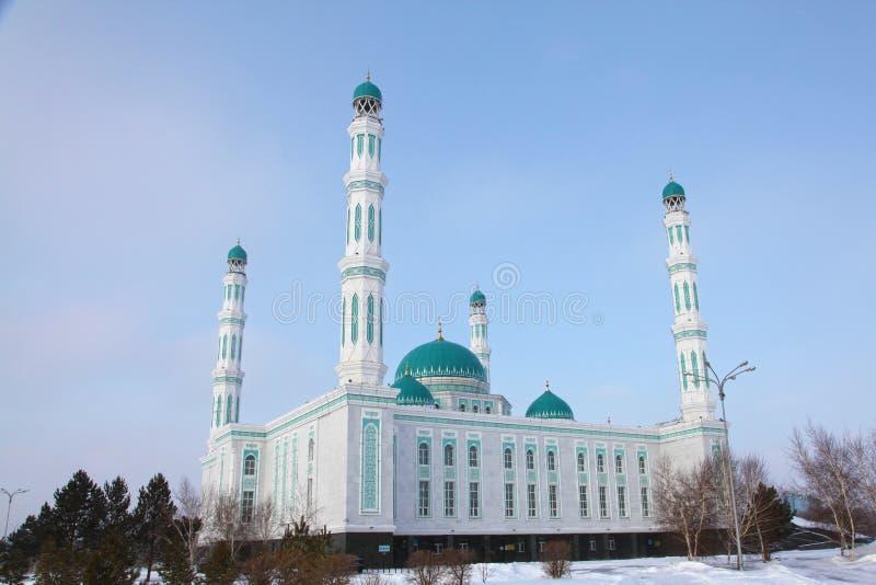 Centrale kathedraalmoskee van Karaganda, Kazachstan stock foto