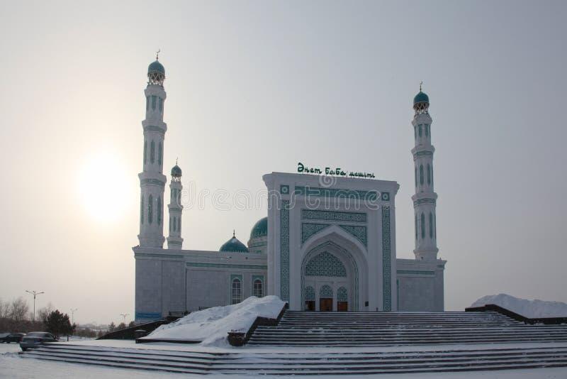 Centrale kathedraalmoskee van Karaganda, Kazachstan royalty-vrije stock afbeelding