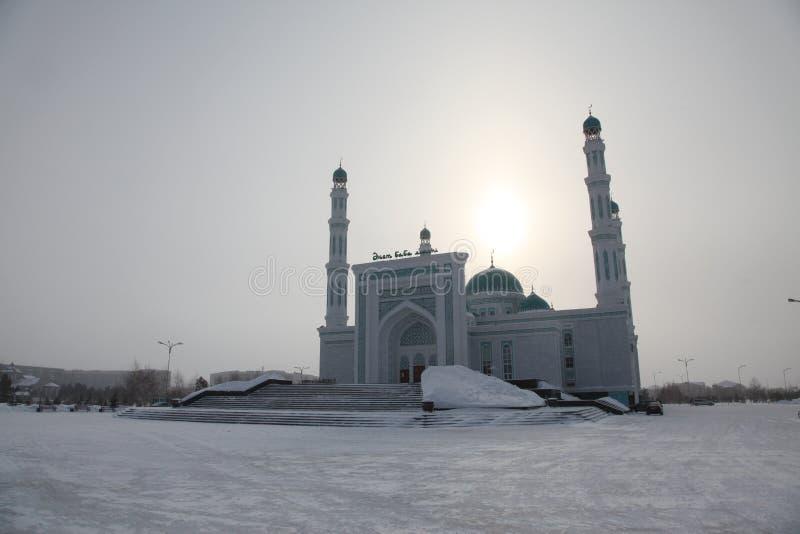 Centrale kathedraalmoskee van Karaganda, Kazachstan stock fotografie