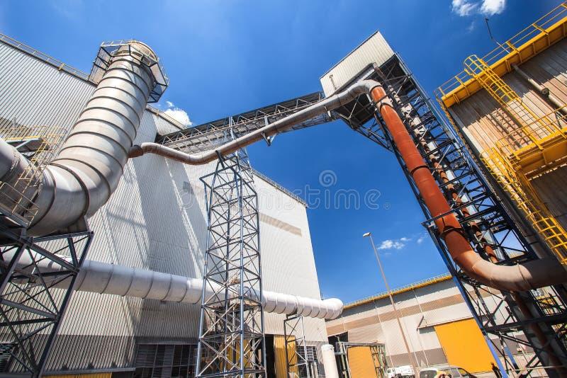 Centrale métallurgique image stock