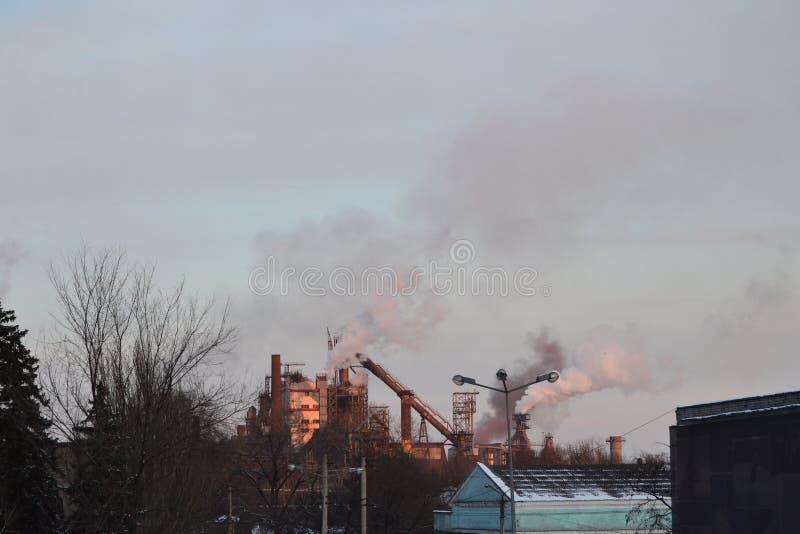 Centrale métallurgique photo libre de droits