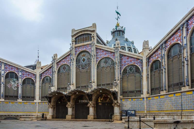 Centrale Markt in Valencia, Spanje stock afbeeldingen
