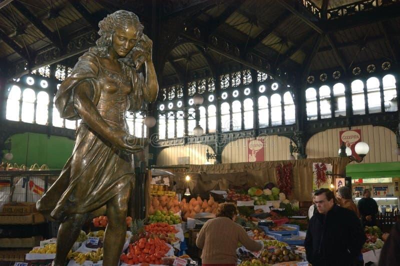 Centrale markt van Santiago, Chili royalty-vrije stock afbeeldingen