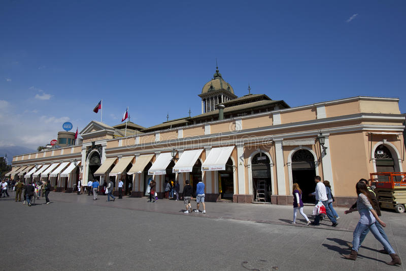 Centrale Mercado, Santiago stock foto