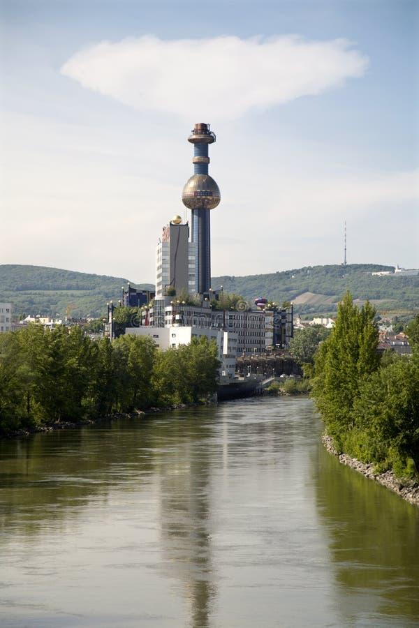 centrale moderne de chauffage Vienne image libre de droits