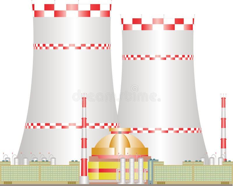 Centrale nucléaire. image libre de droits