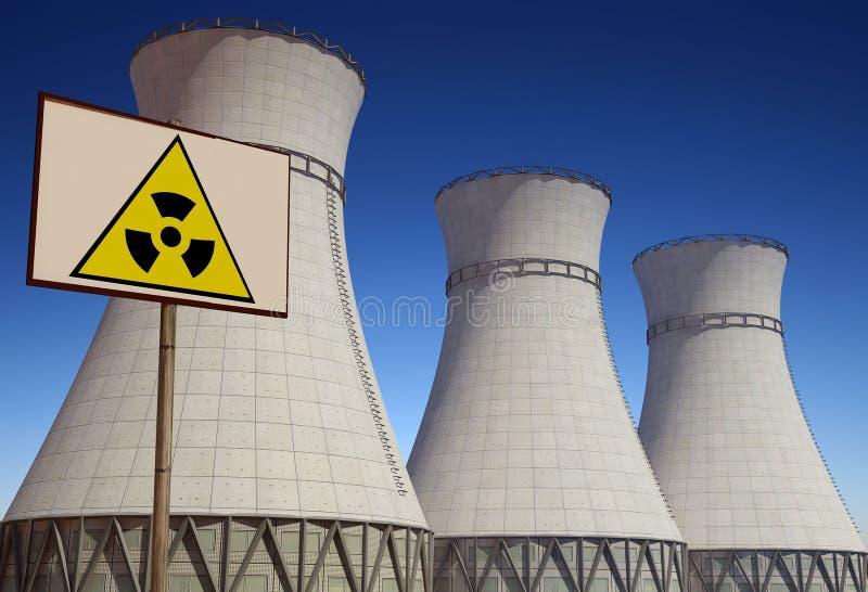 Centrale nucléaire. illustration de vecteur