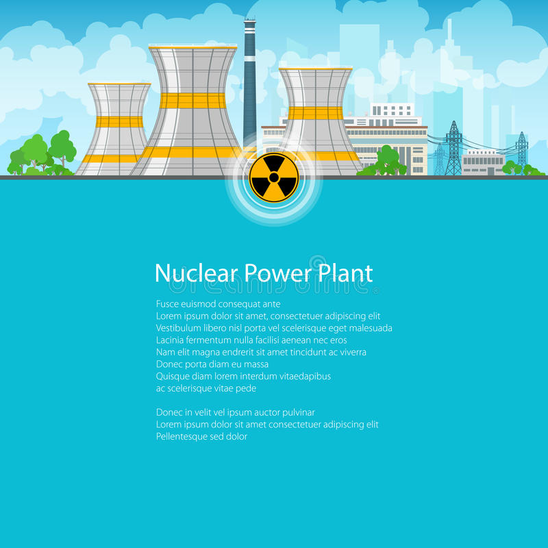 Download Centrale Nucléaire De Brochure Illustration de Vecteur - Illustration du dangereux, heat: 76083362