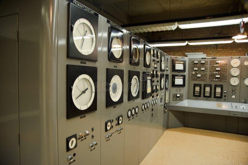 Centrale nucleare della sala di controllo fotografia stock