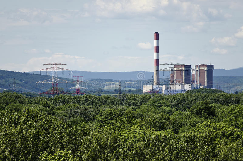 Centrale nucleare di Zwentendorf immagine stock libera da diritti