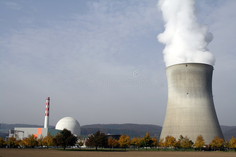 Centrale nucleare a Leibstadt, CH immagine stock