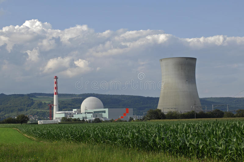 Centrale nucleare, Leibstadt, Svizzera immagine stock libera da diritti