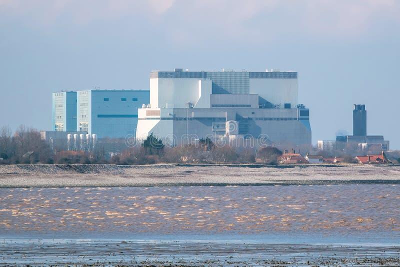 Centrale nucleare Somerset, Regno Unito del punto di Hinkley immagini stock