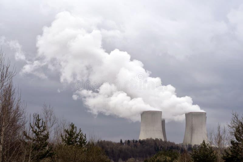 Centrale nucleare Temelin immagine stock libera da diritti