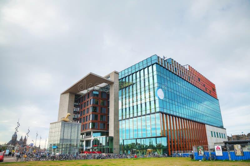 Centrale openbare bibliotheek in Amsterdam stock afbeelding