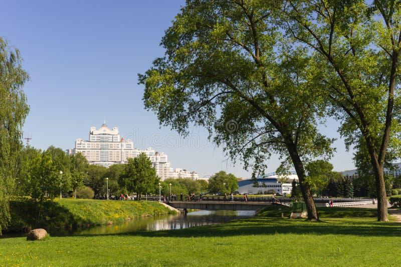 Centrale parkmening, de Stad van Minsk, Wit-Rusland