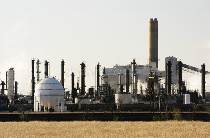 Centrale petrolchimica immagine stock